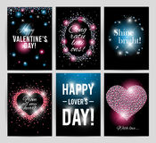 Vector valentine's day card design. Stock Image