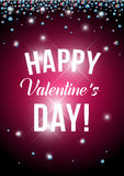 Vector valentine's day card design. Royalty Free Stock Images