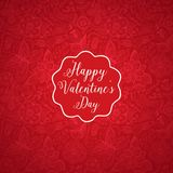 Vector Valentine's Day doodles. Romantic hand drawn elements frame Royalty Free Stock Photography
