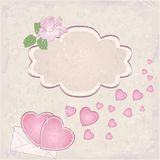 Vector valentine`s day frame Stock Photo