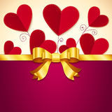 Vector Valentine's day greeting card with hearts Stock Images