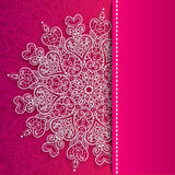 Vector Valentine's day lacy greeting ornate. Vector Valentine's day lacy heart greeting background Stock Photo