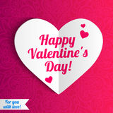 Vector Valentine's day lacy heart greeting card on Royalty Free Stock Photo