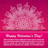 Vector Valentine's day lacy paper heart greeting Royalty Free Stock Photo