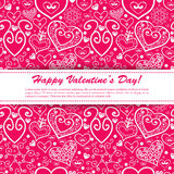 Vector Valentine's day lacy paper heart greeting Royalty Free Stock Images