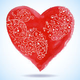 Vector Valentine's day lacy paper heart greeting Stock Photography