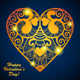 Vector Valentine's day lacy paper heart greeting Royalty Free Stock Photography