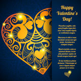 Vector Valentine's day lacy paper heart greeting Stock Photos