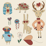 Vector Valentine's Day Set Royalty Free Stock Images