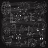 Vector Valentine's Day Set Royalty Free Stock Photography