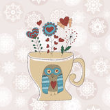 Vector Valentine's Greeting Card Royalty Free Stock Image