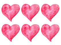 Vector Valentine's Heart Collection Stock Images