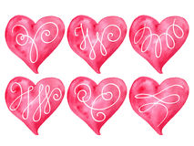 Vector Valentine's Heart Collection Royalty Free Stock Photos