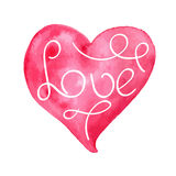 Vector Valentine's Heart. Vector Valentine's Watercolor Hand Drawn Heart royalty free illustration