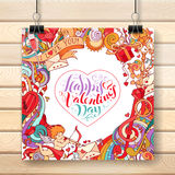Vector Valentine's poster template. Stock Photo