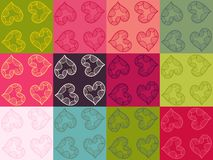 Vector Valentine seamless pattern set Stock Image
