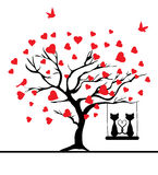 Vector valentine tree Stock Photos