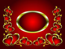 A vector valentines background Royalty Free Stock Photo