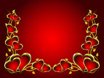A vector valentines background Royalty Free Stock Images