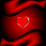A vector valentines background with silver hearts Royalty Free Stock Photography