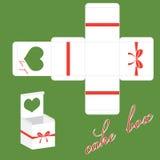 Vector valentines cake box Stock Image