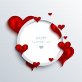 Vector valentines day background. Eps10 Stock Image