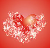 Vector Valentines day background with heart Royalty Free Stock Photography