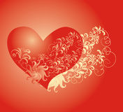 Vector Valentines day background with heart Stock Images