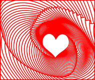 Vector Valentines day background with heart Stock Image
