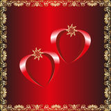 Vector Valentines day card  Royalty Free Stock Photos