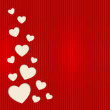 Vector Valentines day card. Vector heart from Valentines day card with place for text Royalty Free Stock Photos