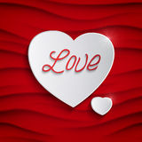 Vector Valentines day card Royalty Free Stock Image