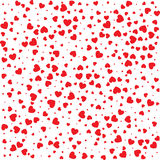 Vector Valentines day card seamless pattern red small hearts background. Vector Valentines day seamless pattern with red small grunge hearts  on white Royalty Free Stock Image