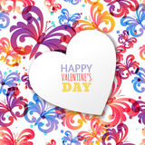 Vector Valentines day card template with butterflies. Stock Images
