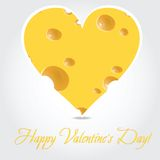 Vector valentines day  - cheese illustration Stock Photo