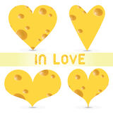 Vector valentines day  - cheese set Stock Photo
