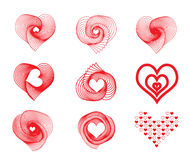 Vector Valentines day icons Stock Images
