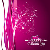 Vector Valentines Day illustration with typography design on violet background. Royalty Free Stock Photography