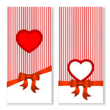 Vector Valentines day invitation card. Stock Photography