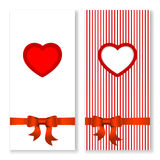 Vector Valentines day invitation card. Royalty Free Stock Photo