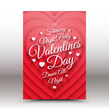 Vector Valentines Day night party flayer Stock Image