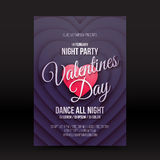 Vector Valentines Day night party flayer Stock Photos