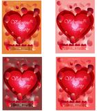 Vector Valentines Day night party flayer set royalty free illustration