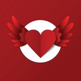 Vector Valentines day postcard with heart. This is file of EPS10 format Royalty Free Stock Photo