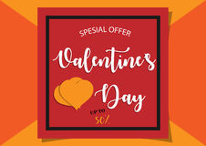Valentines day sale background orange Royalty Free Stock Photos