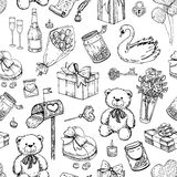 Vector Valentines day seamless pattern. Royalty Free Stock Images