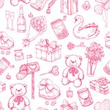 Vector Valentines day seamless pattern. Royalty Free Stock Photos