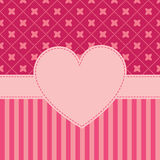 Vector valentines frame Royalty Free Stock Images