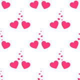 Vector valentines loving hearts seamless pattern. Wedding background. Love and passion design element Royalty Free Stock Photos