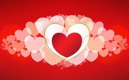 Vector Valentinsgrußtageskarte stock abbildung